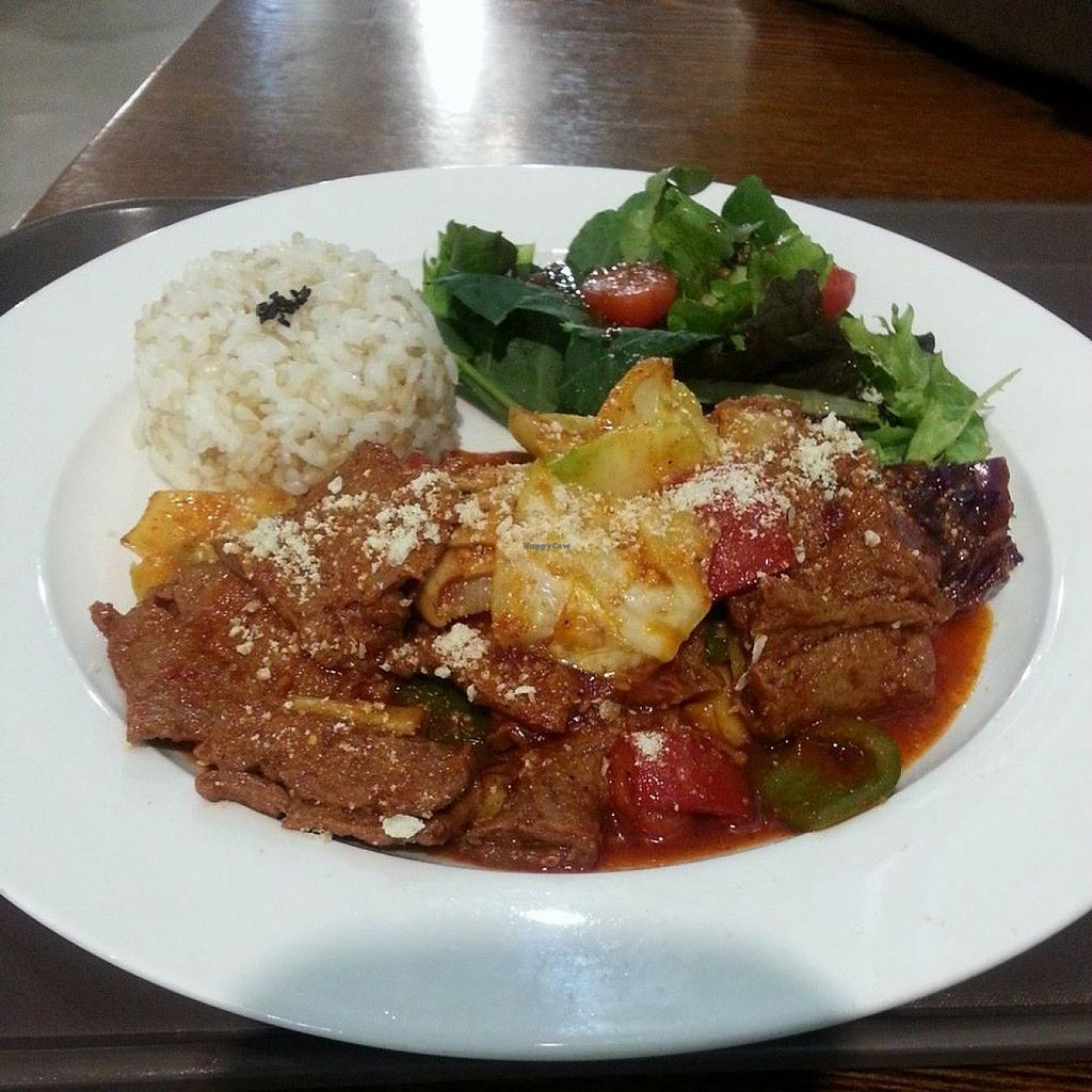 "Photo of CLOSED: Coexistence Vegan Cafe  by <a href=""/members/profile/veggieisland"">veggieisland</a> <br/>'Cruelty Free Beef & Rice' - It's spicy but delicious <br/> January 27, 2015  - <a href='/contact/abuse/image/48240/91514'>Report</a>"