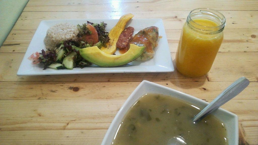 """Photo of La Cocinita Verde - Restaurante  by <a href=""""/members/profile/DanielaForero"""">DanielaForero</a> <br/>homemade lunch  <br/> February 16, 2018  - <a href='/contact/abuse/image/48341/359970'>Report</a>"""