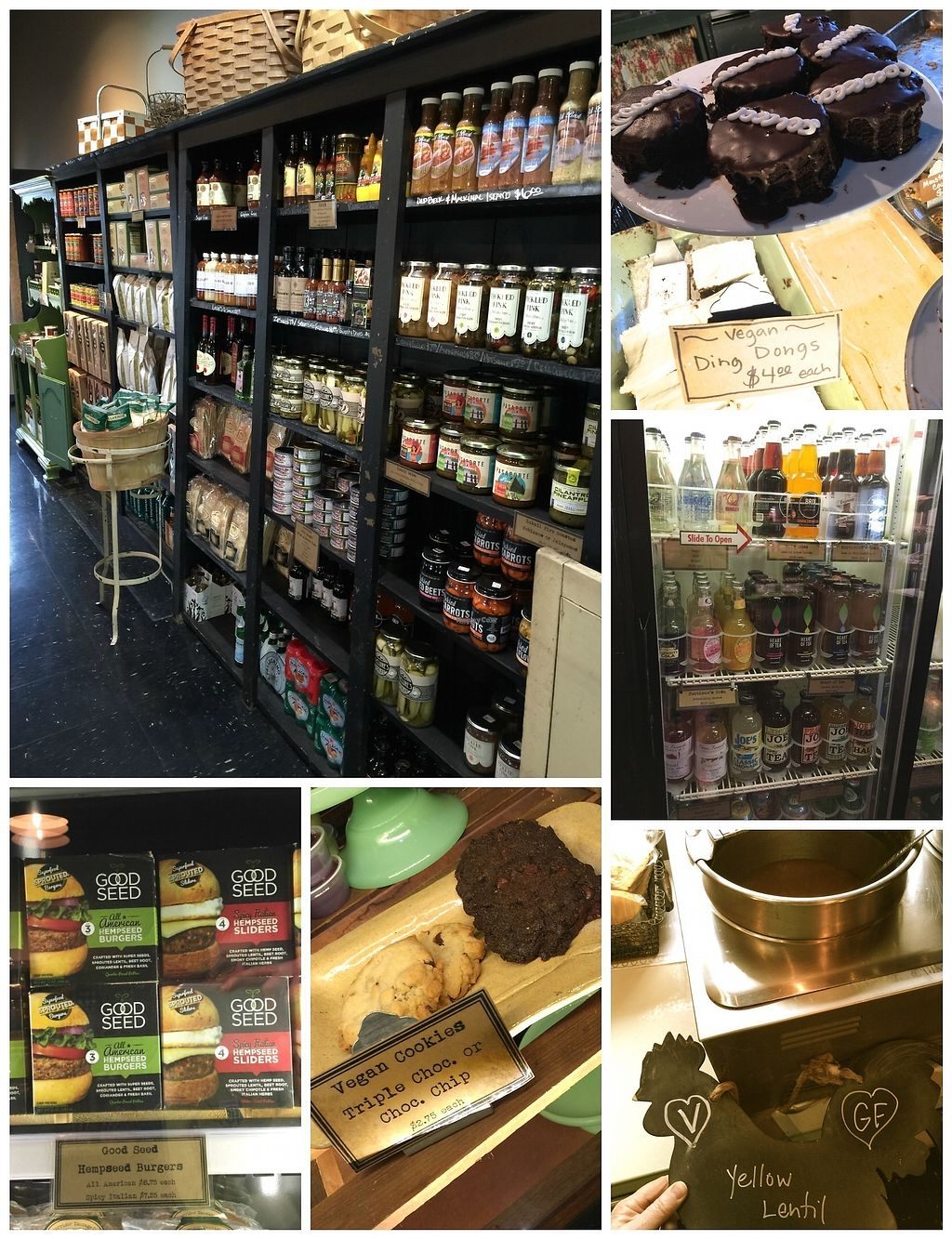 """Photo of The Farmhouse Deli and Pantry  by <a href=""""/members/profile/BeccaBochenek"""">BeccaBochenek</a> <br/>Great vegan salad choices, vegan Ding Dongs and a few cookie options, assorted soups and pantry items <br/> February 25, 2018  - <a href='/contact/abuse/image/48360/363671'>Report</a>"""