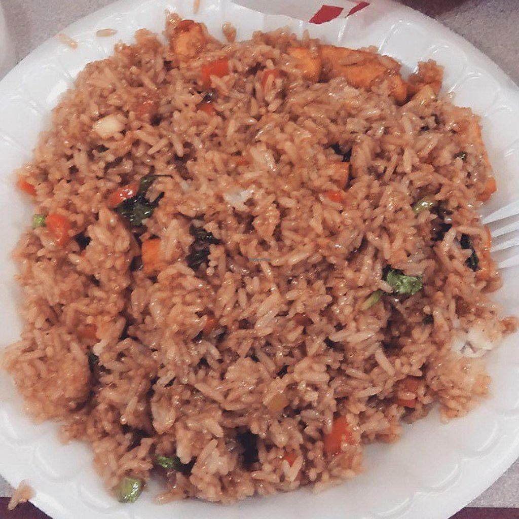 "Photo of Thai Express  by <a href=""/members/profile/QuothTheRaven"">QuothTheRaven</a> <br/>Vegan tofu fried rice. Ask for no egg and voila. :D <br/> January 17, 2015  - <a href='/contact/abuse/image/48393/90508'>Report</a>"