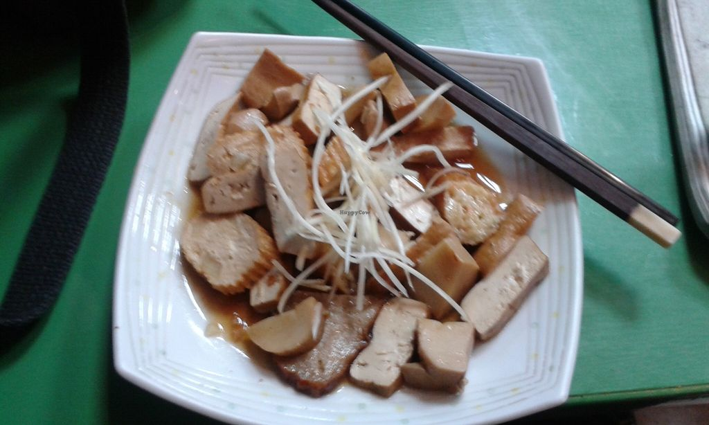 "Photo of Hong De Vegetarian  by <a href=""/members/profile/Jade_Wolfe"">Jade_Wolfe</a> <br/>A selection of seasoned tofu, mushroom and mock meats in a gravy with shredded ginger. Delicious <br/> September 4, 2015  - <a href='/contact/abuse/image/48396/116455'>Report</a>"