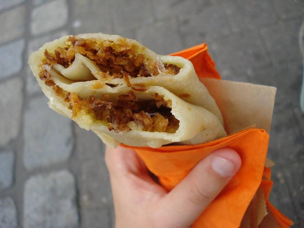 """Photo of Crepes Stand - Food Booth  by <a href=""""/members/profile/maible"""">maible</a> <br/>vegan cheese and grilled onion option <br/> June 29, 2014  - <a href='/contact/abuse/image/48412/72964'>Report</a>"""