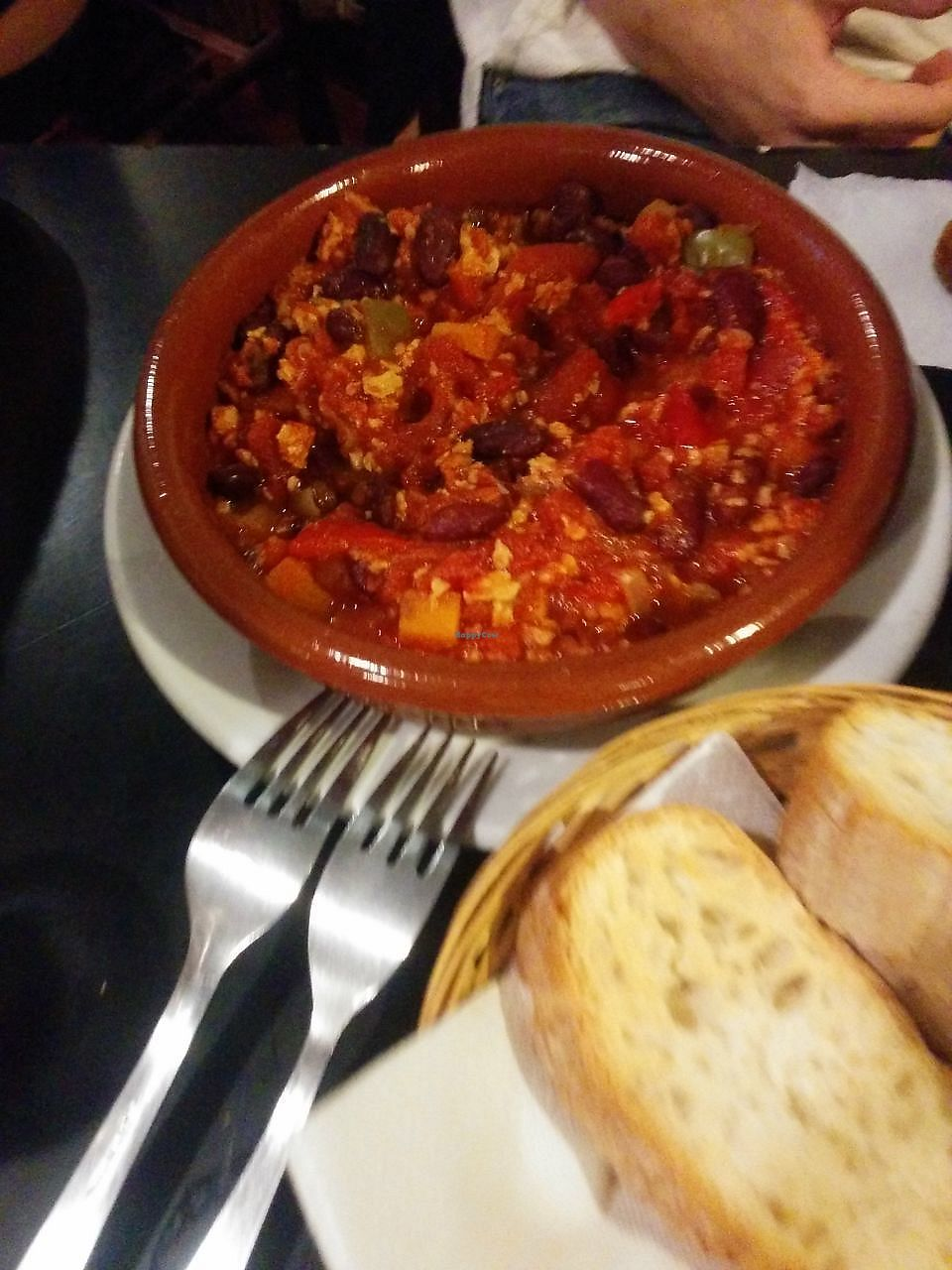 """Photo of Bar Loukanikos  by <a href=""""/members/profile/FlokiTheCat"""">FlokiTheCat</a> <br/>Chili con carne (vegan) <br/> September 20, 2017  - <a href='/contact/abuse/image/48420/306533'>Report</a>"""