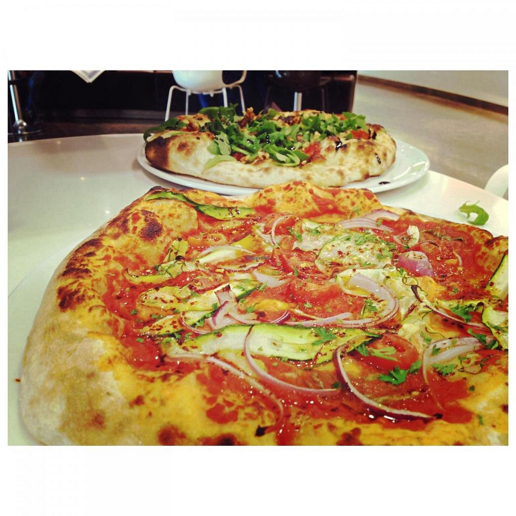 """Photo of Pizzarium  by <a href=""""/members/profile/MarikaHjerpe"""">MarikaHjerpe</a> <br/>Vegan pizzas are so delicious! <br/> July 19, 2014  - <a href='/contact/abuse/image/48422/74398'>Report</a>"""