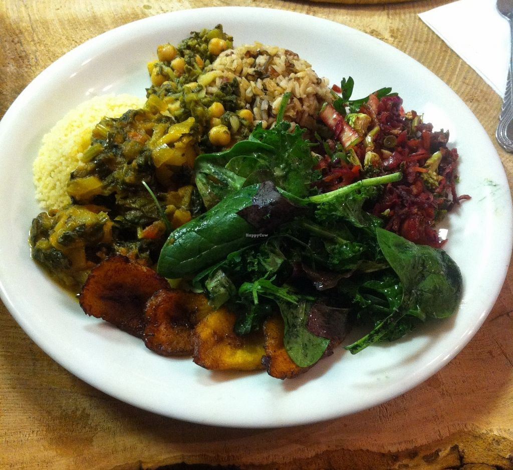 """Photo of CLOSED: The Calabash of Culture  by <a href=""""/members/profile/Dan%20Douglas"""">Dan Douglas</a> <br/>Chickpea and callaloo curry <br/> January 28, 2016  - <a href='/contact/abuse/image/48450/133994'>Report</a>"""