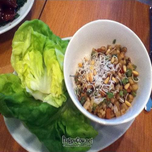 """Photo of CLOSED: Gobo - Upper East Side  by <a href=""""/members/profile/PennsyltuckyVeggie"""">PennsyltuckyVeggie</a> <br/>Pine Nut Vegetable Medley with Lettuce Wraps <br/> September 3, 2011  - <a href='/contact/abuse/image/4845/10395'>Report</a>"""