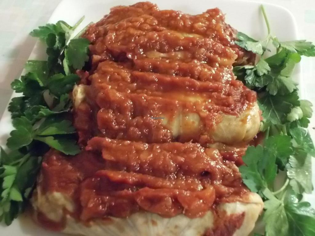 Photo of Red Delicious  by ChefSelena <br/>Vegan lentil stuffed cabbage rolls from Red Delicious <br/> July 3, 2014  - <a href='/contact/abuse/image/48478/73155'>Report</a>