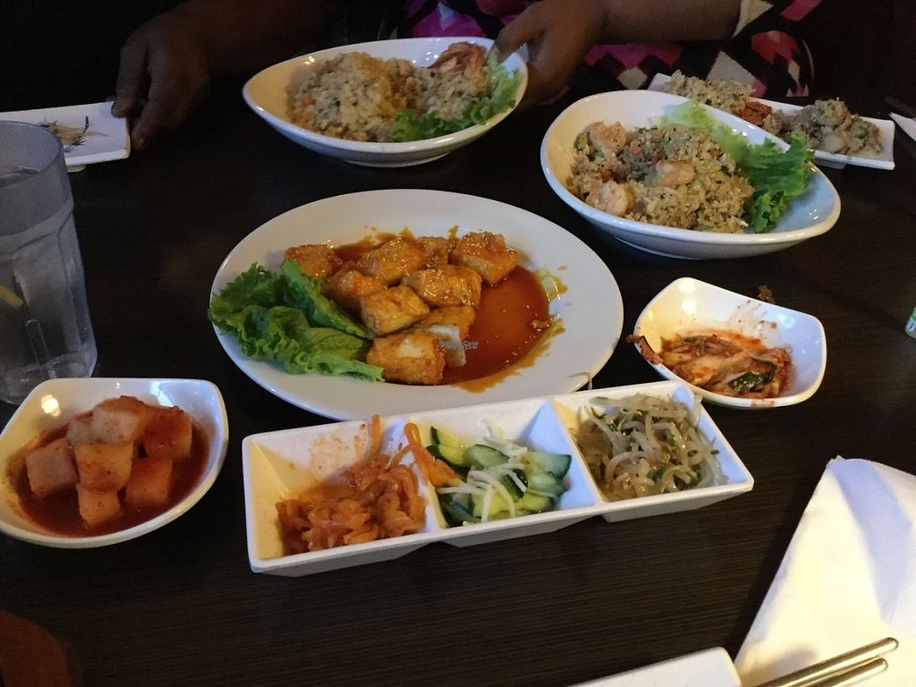 """Photo of Tofu House Korean BBQ  by <a href=""""/members/profile/AprilRain"""">AprilRain</a> <br/>Sides and vegetarian entrees  <br/> December 27, 2016  - <a href='/contact/abuse/image/48484/205289'>Report</a>"""