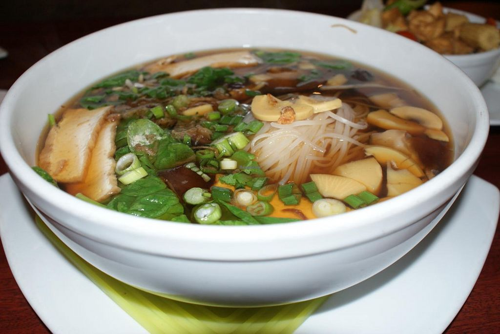 """Photo of Chef's Choice Noodle Bar  by <a href=""""/members/profile/RachaelSera"""">RachaelSera</a> <br/>Veggie Ramen bowl with rice noodles. Yum! <br/> June 1, 2015  - <a href='/contact/abuse/image/48485/104447'>Report</a>"""