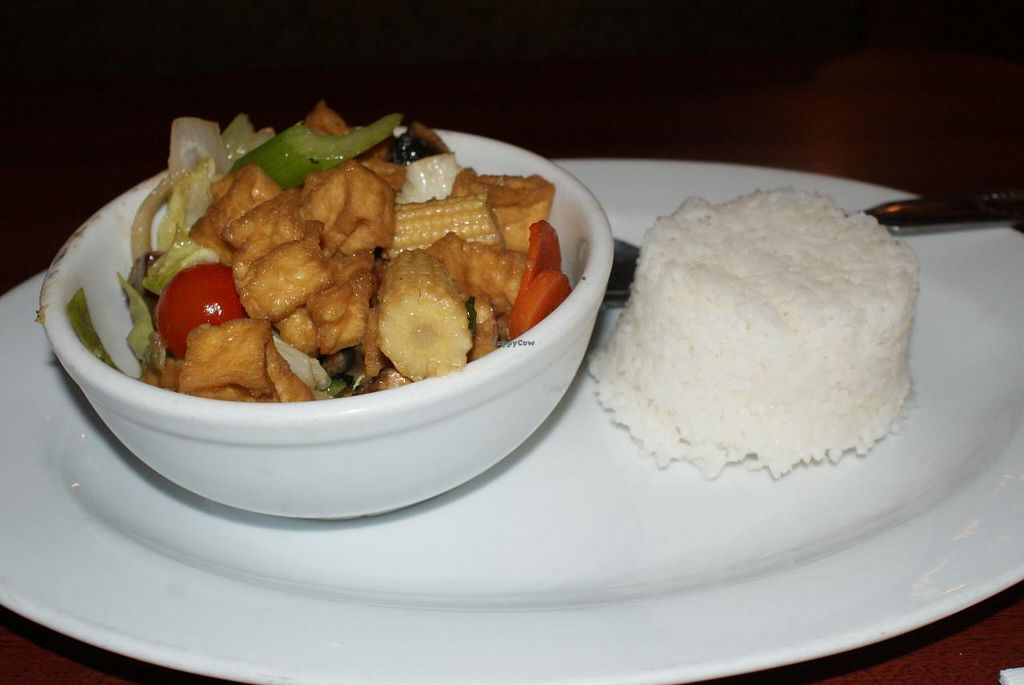 """Photo of Chef's Choice Noodle Bar  by <a href=""""/members/profile/RachaelSera"""">RachaelSera</a> <br/>Stir fry vegetables with tofu and white rice <br/> June 1, 2015  - <a href='/contact/abuse/image/48485/104448'>Report</a>"""