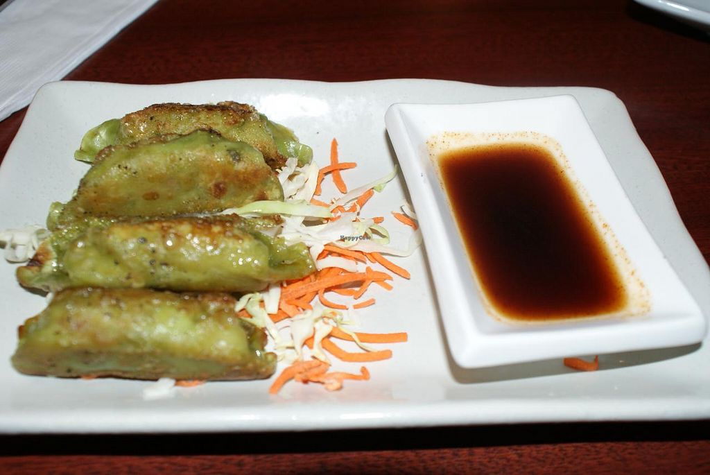 """Photo of Chef's Choice Noodle Bar  by <a href=""""/members/profile/RachaelSera"""">RachaelSera</a> <br/>Vegetable gyoza <br/> June 1, 2015  - <a href='/contact/abuse/image/48485/104449'>Report</a>"""