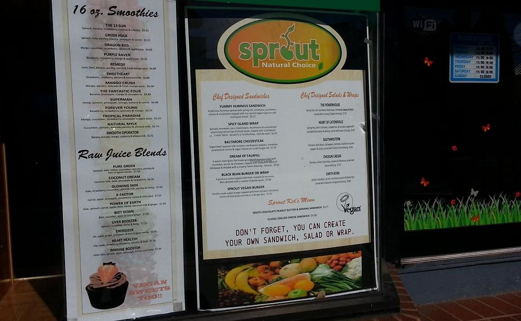 """Photo of Sprout Natural Choice  by <a href=""""/members/profile/HappyToo"""">HappyToo</a> <br/>window signs <br/> October 19, 2014  - <a href='/contact/abuse/image/48508/201701'>Report</a>"""
