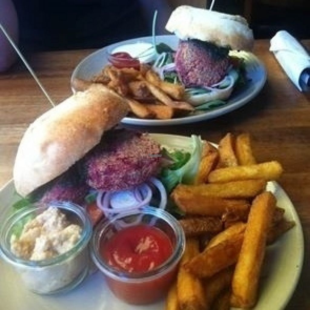 """Photo of Cafe Luna  by <a href=""""/members/profile/Kolbrunisti"""">Kolbrunisti</a> <br/>Vegetarian burger <br/> August 6, 2016  - <a href='/contact/abuse/image/48525/166262'>Report</a>"""