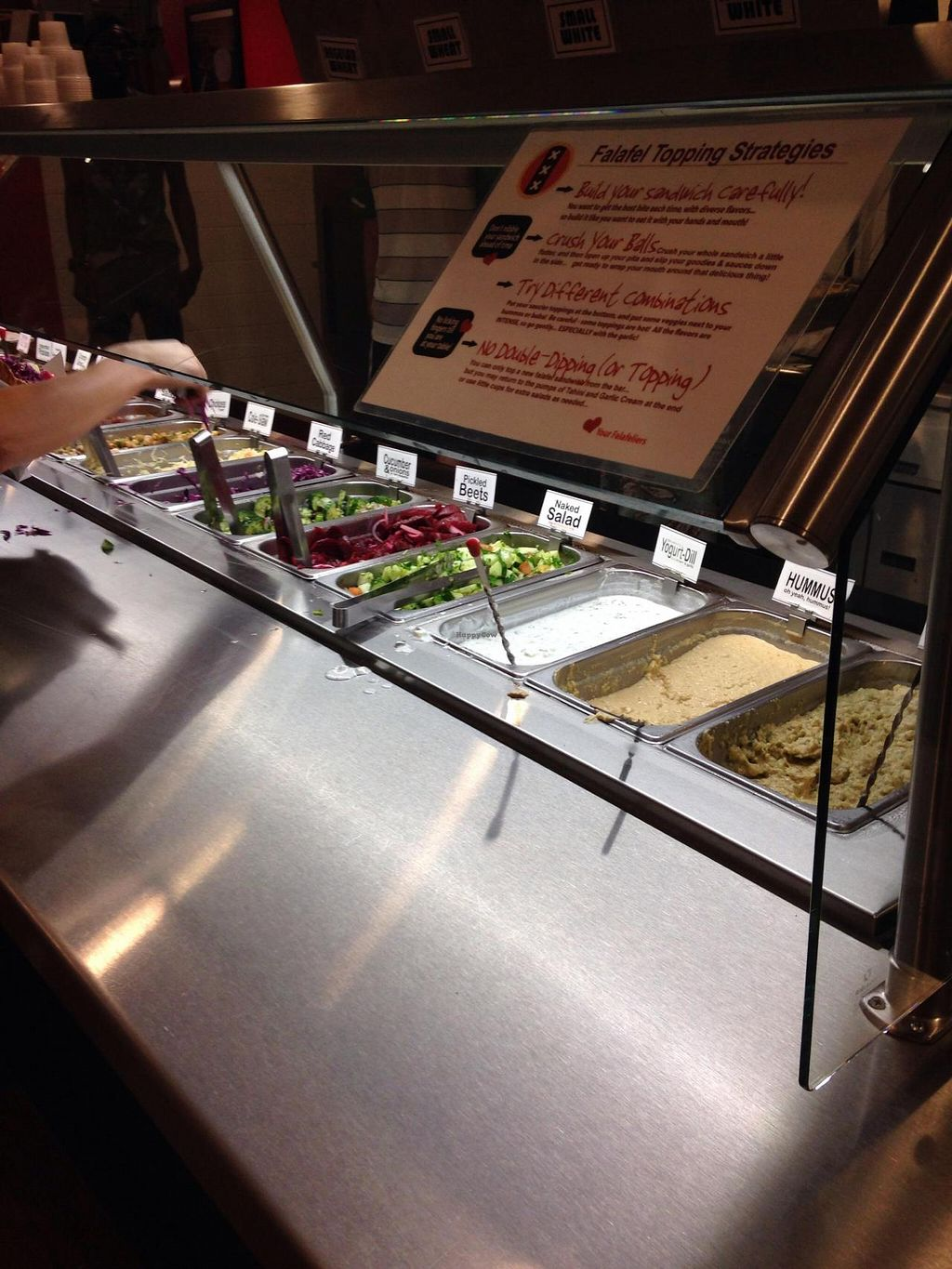 """Photo of Amsterdam Falafelshop  by <a href=""""/members/profile/cookiem"""">cookiem</a> <br/>How to fix your falafel <br/> July 8, 2014  - <a href='/contact/abuse/image/48535/73557'>Report</a>"""