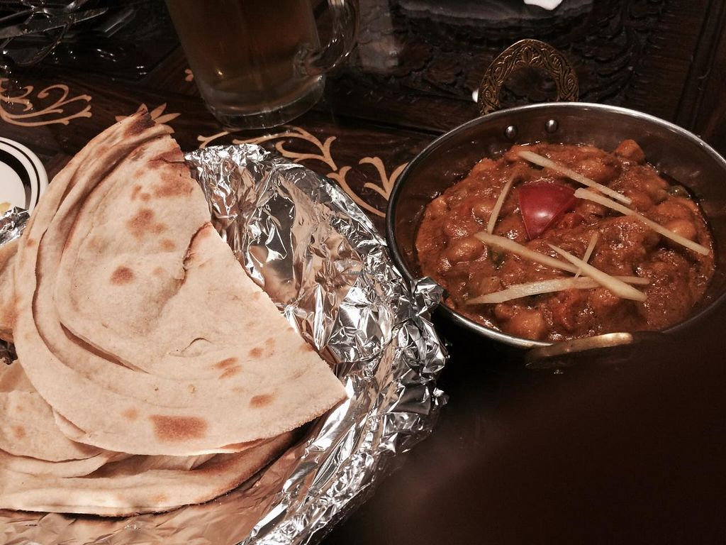 """Photo of Annam Restaurant  by <a href=""""/members/profile/Kristy01"""">Kristy01</a> <br/>Chana masala. Specify vegan and no dairy. Delicious special 1000 yen whole wheat flat bread <br/> April 26, 2015  - <a href='/contact/abuse/image/48538/100414'>Report</a>"""