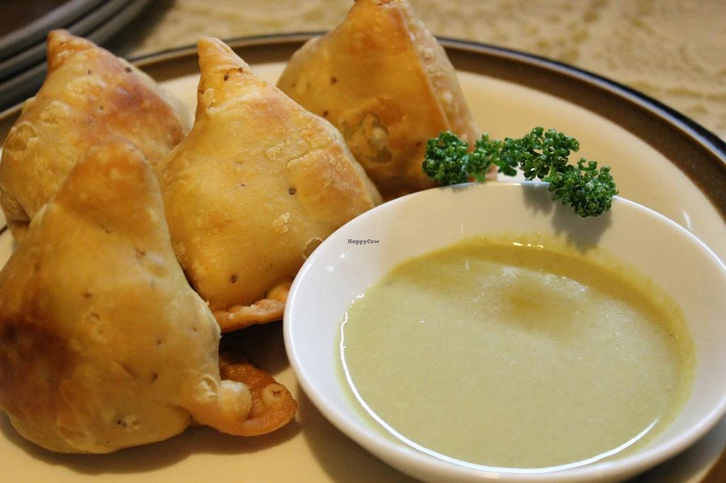"""Photo of Annam Restaurant  by <a href=""""/members/profile/Annam_Restaruant"""">Annam_Restaruant</a> <br/>Vegetarian Samosa <br/> July 15, 2014  - <a href='/contact/abuse/image/48538/74060'>Report</a>"""
