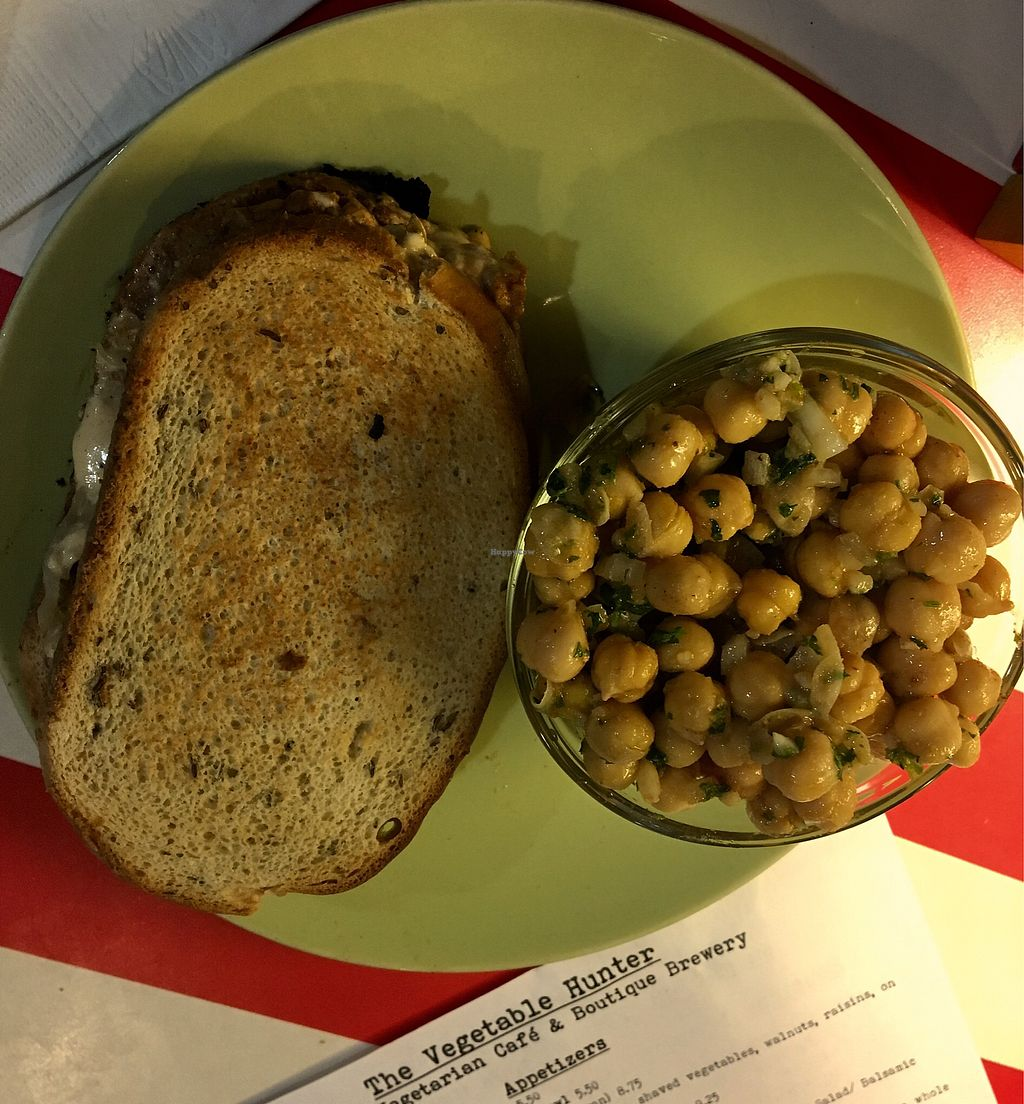 """Photo of The Vegetable Hunter Cafe and Boutique Brewery  by <a href=""""/members/profile/Thepennsyltuckyvegan"""">Thepennsyltuckyvegan</a> <br/>Tempeh on Rye <br/> February 25, 2018  - <a href='/contact/abuse/image/48560/363484'>Report</a>"""