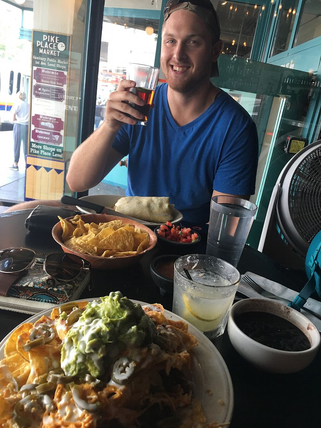 """Photo of El Borracho - Pike Place Market  by <a href=""""/members/profile/MalloryLynneBruner"""">MalloryLynneBruner</a> <br/>Vegan nachos!  <br/> August 17, 2017  - <a href='/contact/abuse/image/48563/293707'>Report</a>"""