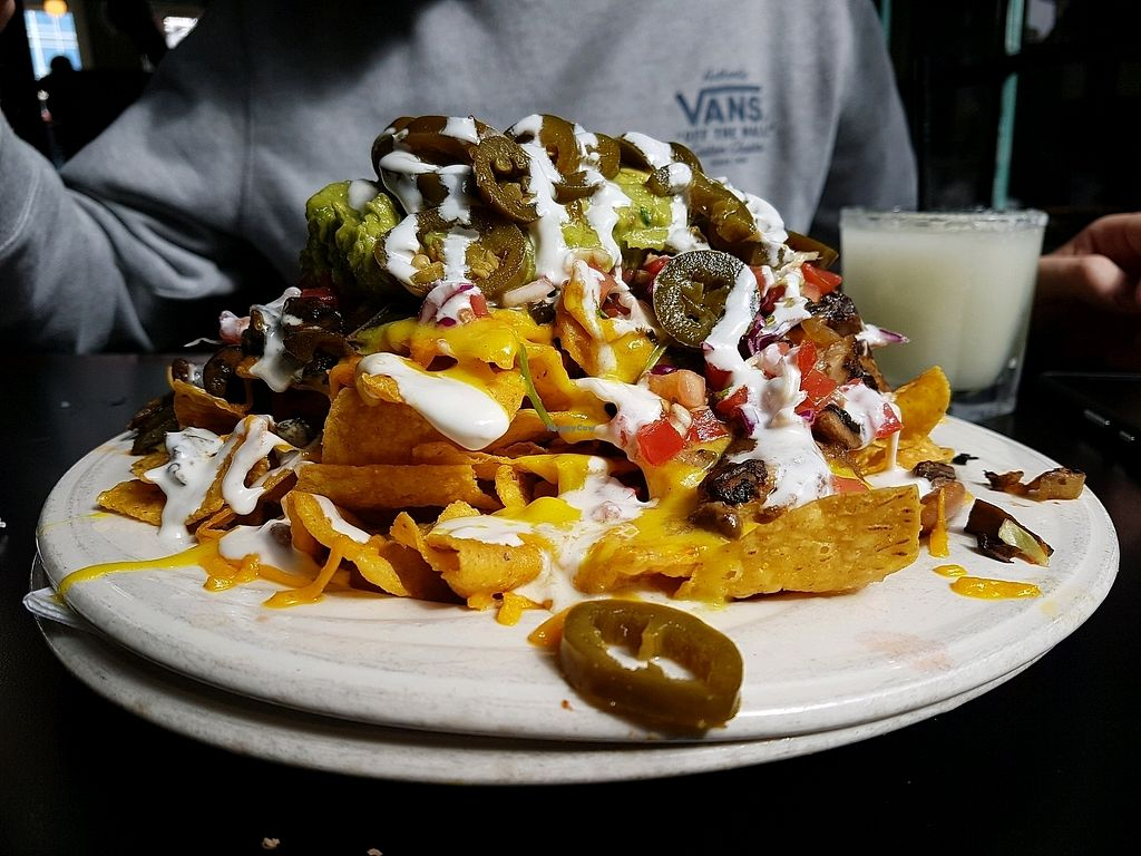 """Photo of El Borracho - Pike Place Market  by <a href=""""/members/profile/RisingMoment"""">RisingMoment</a> <br/>fully loaded vegan nachos <br/> April 15, 2018  - <a href='/contact/abuse/image/48563/386546'>Report</a>"""