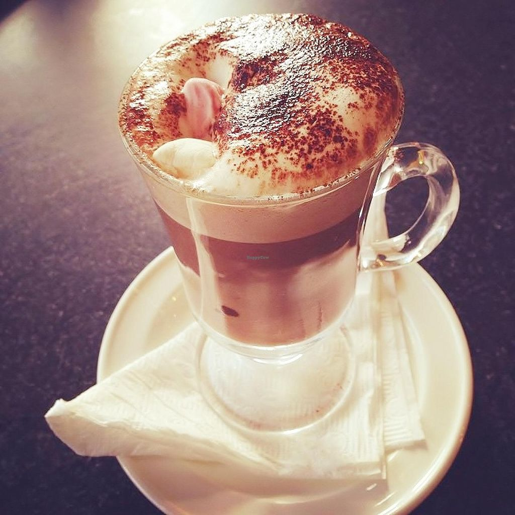 """Photo of Radhey Kitchen and Chai Bar  by <a href=""""/members/profile/verbosity"""">verbosity</a> <br/>Hot Cacao with Vegan marshmallows <br/> July 4, 2015  - <a href='/contact/abuse/image/48629/108084'>Report</a>"""