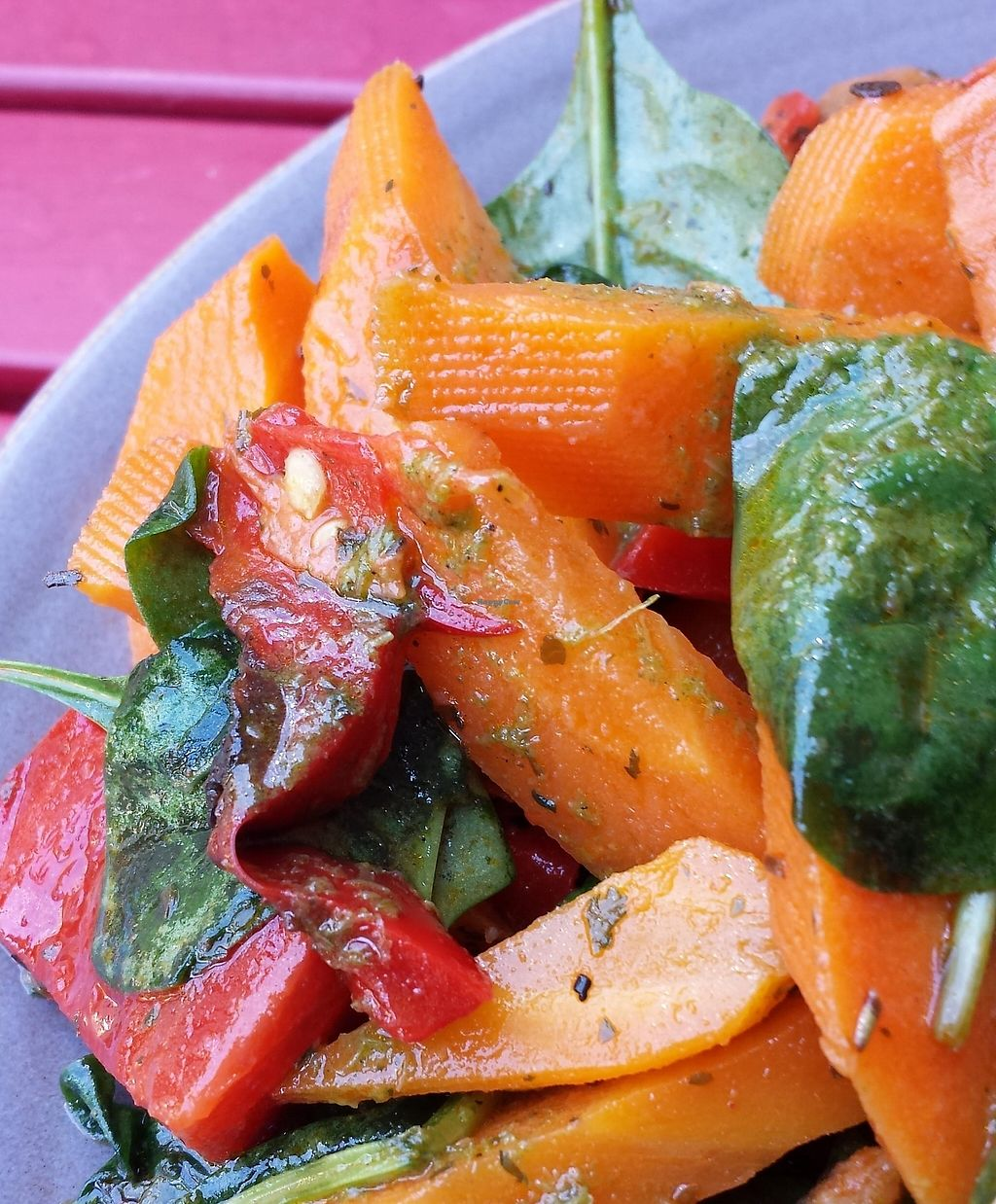 """Photo of Radhey Kitchen and Chai Bar  by <a href=""""/members/profile/Aloo"""">Aloo</a> <br/>Sweet potato salad with gorgeous mint dressing <br/> March 3, 2016  - <a href='/contact/abuse/image/48629/256515'>Report</a>"""