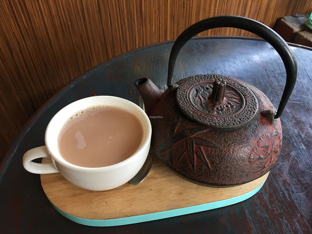 """Photo of Radhey Kitchen and Chai Bar  by <a href=""""/members/profile/Wuji_Luiji"""">Wuji_Luiji</a> <br/>Pot of soy chai <br/> December 20, 2017  - <a href='/contact/abuse/image/48629/337397'>Report</a>"""