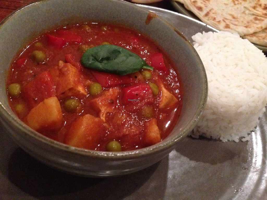 """Photo of Radhey Kitchen and Chai Bar  by <a href=""""/members/profile/Tiggy"""">Tiggy</a> <br/>Hungarian vegetable and tofu goulash - February 2015 <br/> February 20, 2015  - <a href='/contact/abuse/image/48629/93543'>Report</a>"""