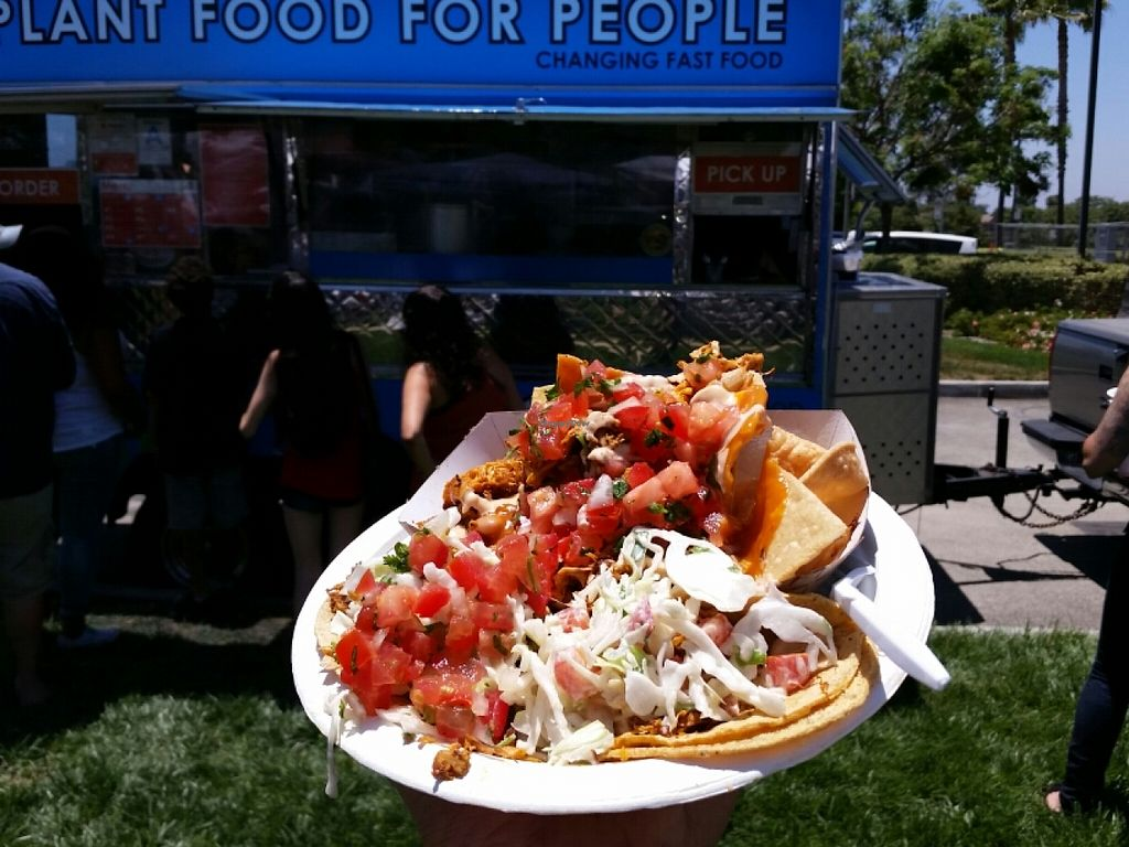 """Photo of Plant Food for People  by <a href=""""/members/profile/eric"""">eric</a> <br/>jack fruit nachos and tacos <br/> July 2, 2016  - <a href='/contact/abuse/image/48648/157407'>Report</a>"""