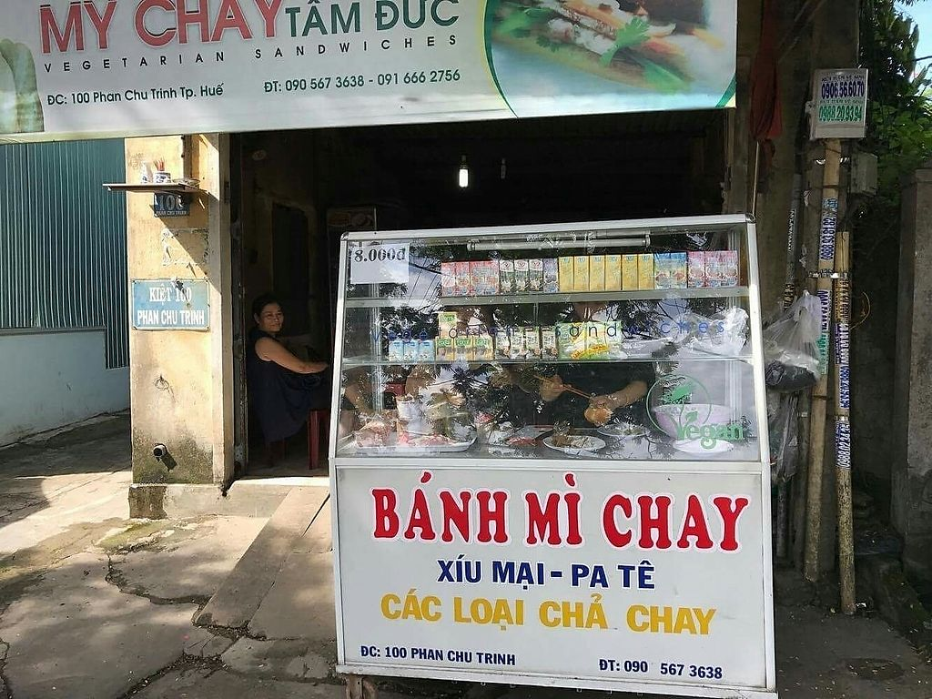 """Photo of My Chay Tam Duc - Banh Mi Chay Food Cart  by <a href=""""/members/profile/turnvegan"""">turnvegan</a> <br/>Store front @July2017 <br/> July 18, 2017  - <a href='/contact/abuse/image/48666/281798'>Report</a>"""