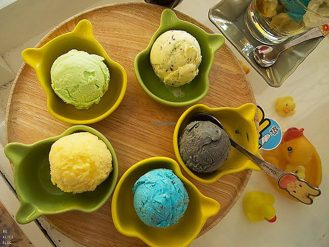 """Photo of Ice Love You  by <a href=""""/members/profile/VeganGecko"""">VeganGecko</a> <br/>mint choc, black bean, banoffee, lemon & mango ice cream <br/> June 16, 2017  - <a href='/contact/abuse/image/48705/269593'>Report</a>"""