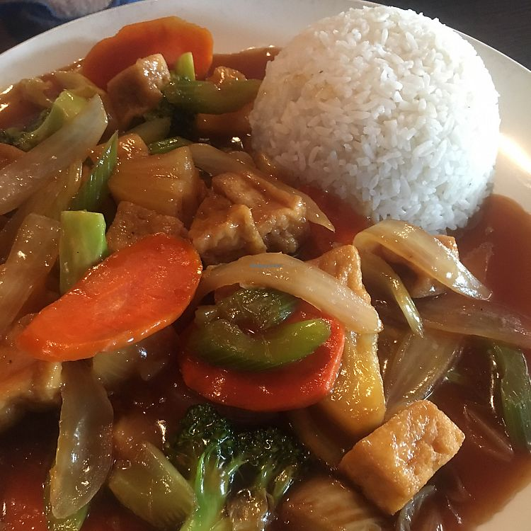 """Photo of CLOSED: Sophear Restaurant and Bar  by <a href=""""/members/profile/KimHawkings"""">KimHawkings</a> <br/>Teriyaki tofu <br/> July 22, 2017  - <a href='/contact/abuse/image/48706/283066'>Report</a>"""