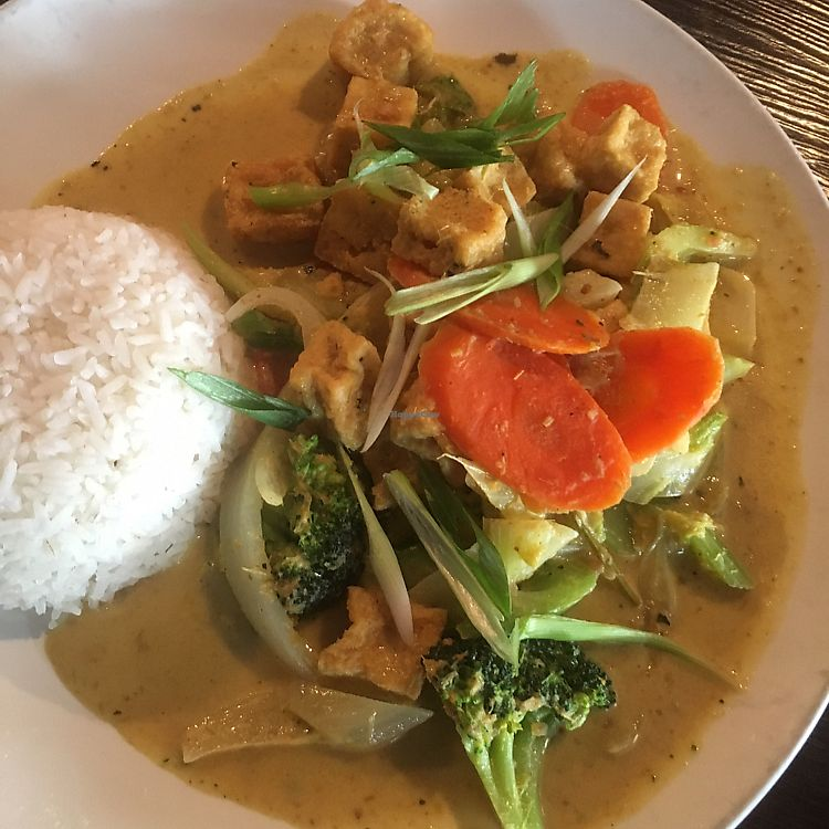 """Photo of CLOSED: Sophear Restaurant and Bar  by <a href=""""/members/profile/KimHawkings"""">KimHawkings</a> <br/>Tofu curry <br/> July 22, 2017  - <a href='/contact/abuse/image/48706/283067'>Report</a>"""
