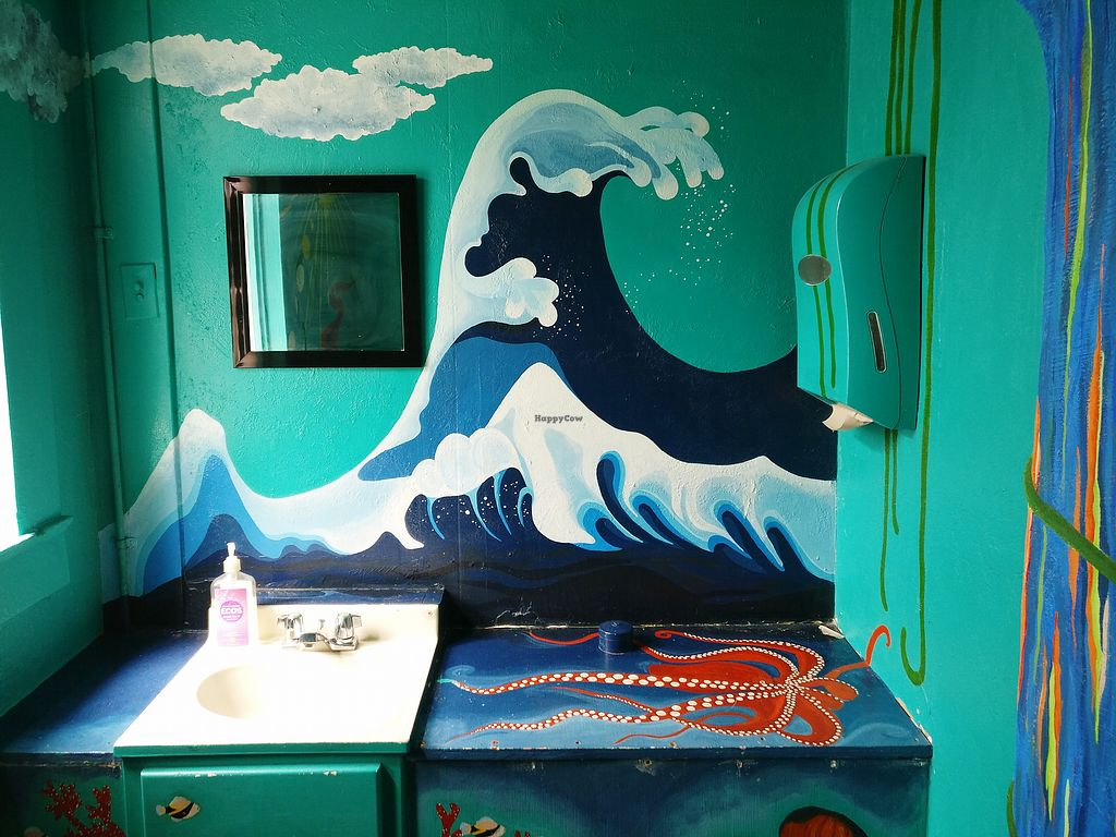 """Photo of Conscious Culture Cafe  by <a href=""""/members/profile/KarinKoala"""">KarinKoala</a> <br/>very decorative bathroom  <br/> March 21, 2018  - <a href='/contact/abuse/image/48712/373813'>Report</a>"""