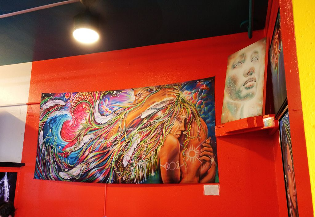 """Photo of Conscious Culture Cafe  by <a href=""""/members/profile/KarinKoala"""">KarinKoala</a> <br/>some lovely art at the Conscious Culture Café <br/> March 21, 2018  - <a href='/contact/abuse/image/48712/373814'>Report</a>"""
