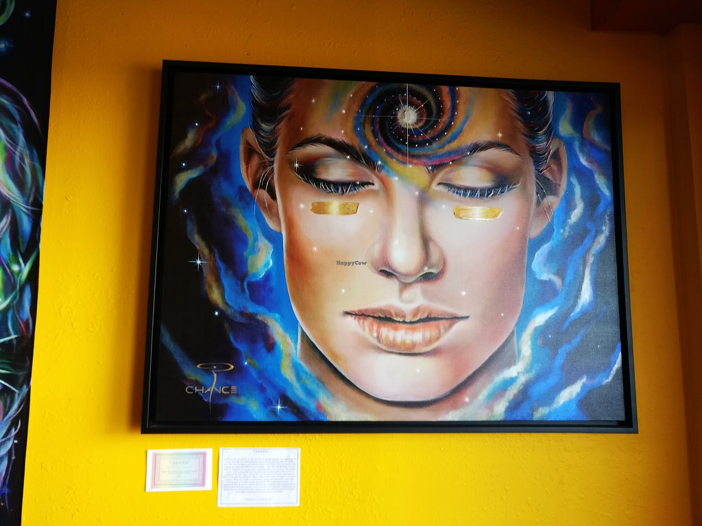 """Photo of Conscious Culture Cafe  by <a href=""""/members/profile/KarinKoala"""">KarinKoala</a> <br/>some lovely art at the Conscious Culture Café <br/> March 21, 2018  - <a href='/contact/abuse/image/48712/373815'>Report</a>"""