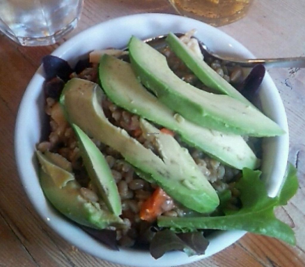 Photo of The Rose Establishment  by Navegante <br/>Farro Salad with tea soda, July 2014 <br/> July 11, 2014  - <a href='/contact/abuse/image/48717/230846'>Report</a>