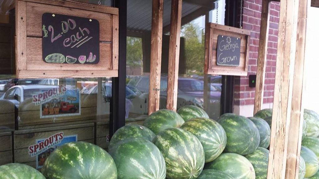"""Photo of Sprouts Farmers Market  by <a href=""""/members/profile/theveggietaste"""">theveggietaste</a> <br/>Watermelon from Local farmers <br/> July 30, 2014  - <a href='/contact/abuse/image/48722/75577'>Report</a>"""