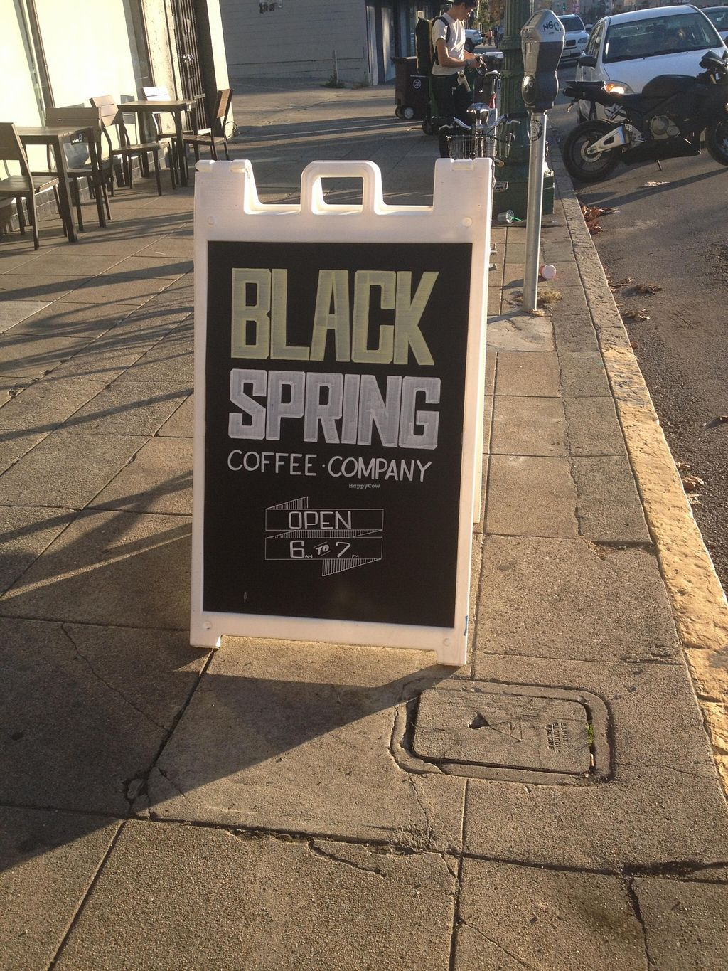 "Photo of Black Spring Coffee Company  by <a href=""/members/profile/vegan_ryan"">vegan_ryan</a> <br/>Sidewalk sign <br/> December 12, 2015  - <a href='/contact/abuse/image/48736/128031'>Report</a>"