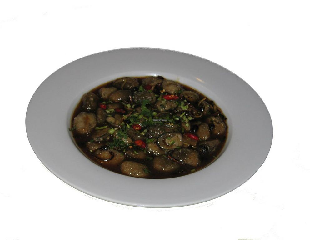 Photo of Ambrosia Veggie House  by Ambrosia Veggie <br/>Straw mushrooms in black bean sauce <br/> August 12, 2014  - <a href='/contact/abuse/image/48757/76808'>Report</a>