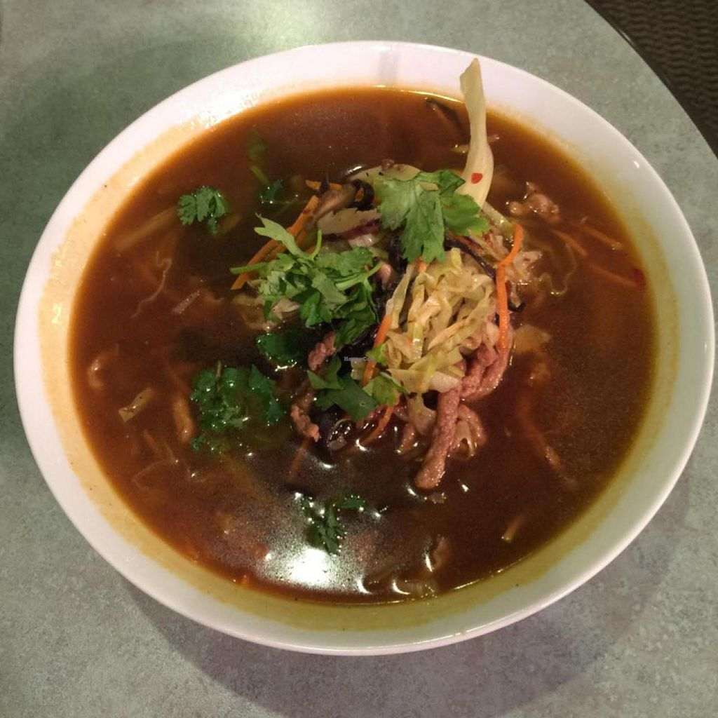 """Photo of Ambrosia Veggie House  by <a href=""""/members/profile/vegetariangirl"""">vegetariangirl</a> <br/>special noodle soup <br/> October 18, 2014  - <a href='/contact/abuse/image/48757/83334'>Report</a>"""
