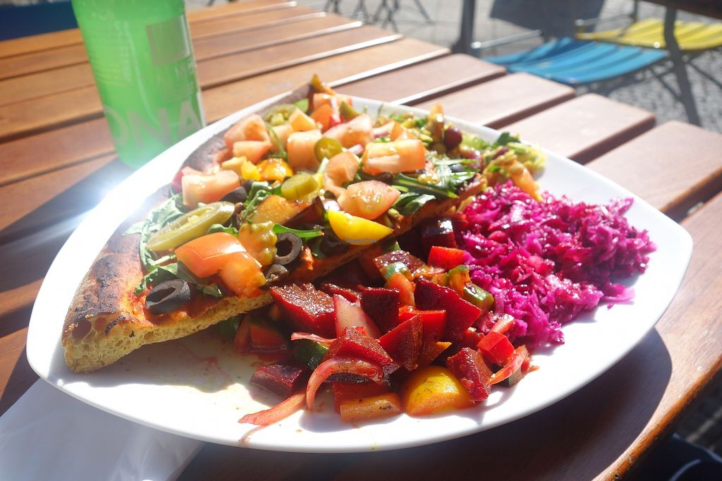 "Photo of Kiez Vegan - Kortestrasse  by <a href=""/members/profile/Thewisevegan"">Thewisevegan</a> <br/>Pizza <br/> April 3, 2018  - <a href='/contact/abuse/image/48783/380349'>Report</a>"