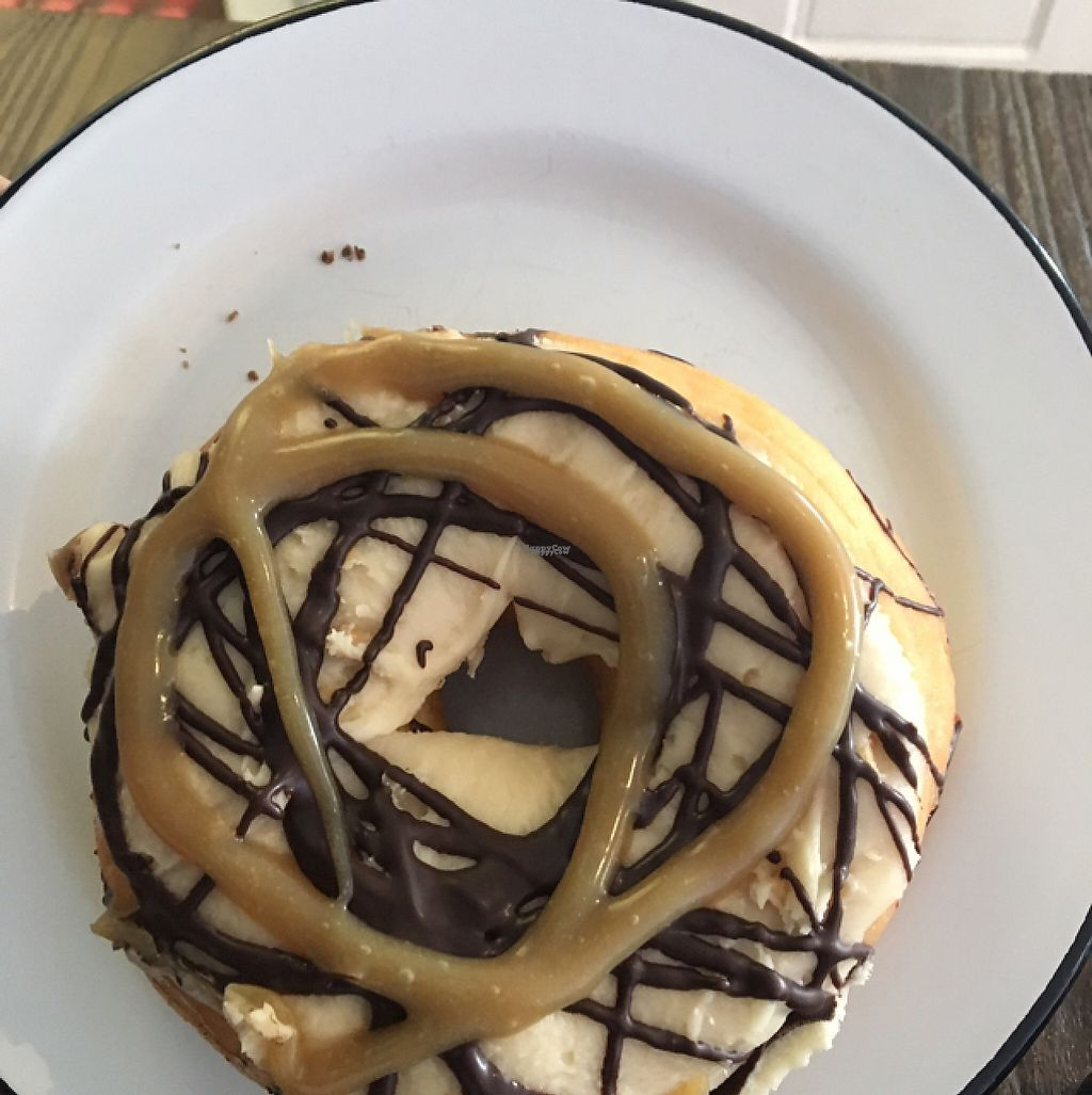 """Photo of Cherry Darlings Bakehouse  by <a href=""""/members/profile/Mycall"""">Mycall</a> <br/>'snickers' the ridiculous donut of deliciousness  <br/> April 12, 2017  - <a href='/contact/abuse/image/48809/247405'>Report</a>"""