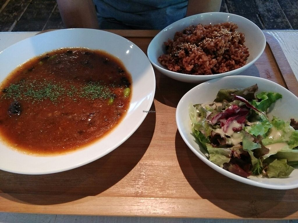"""Photo of Hibino Cafe AGT  by <a href=""""/members/profile/Lovemyveg"""">Lovemyveg</a> <br/>Bean Curry <br/> June 23, 2017  - <a href='/contact/abuse/image/48828/272532'>Report</a>"""