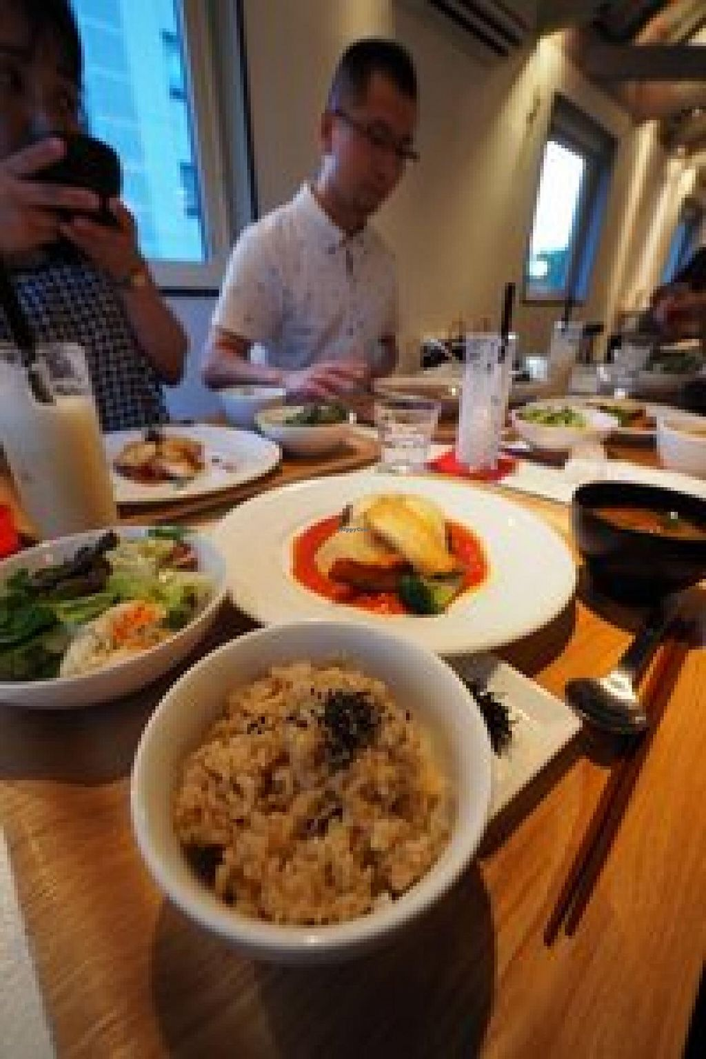 """Photo of Hibino Cafe AGT  by <a href=""""/members/profile/HaideeThomson"""">HaideeThomson</a> <br/>Vegetarian burger set at Hibino Cafe AGT <br/> July 14, 2014  - <a href='/contact/abuse/image/48828/74052'>Report</a>"""