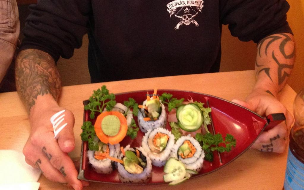 """Photo of Lin's Asia Kuche  by <a href=""""/members/profile/VEGAN%20CREW%20%20Tom"""">VEGAN CREW  Tom</a> <br/>Vegan Sushi <br/> July 14, 2014  - <a href='/contact/abuse/image/48840/74032'>Report</a>"""