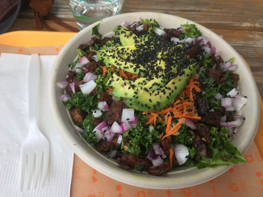 "Photo of Next Level Burger  by <a href=""/members/profile/LinnDaugherty"">LinnDaugherty</a> <br/>avo kale salad pretty filling must say <br/> June 27, 2017  - <a href='/contact/abuse/image/48847/273855'>Report</a>"