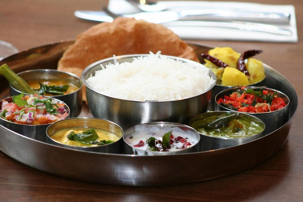 """Photo of Tharavadu  by <a href=""""/members/profile/SibyJose"""">SibyJose</a> <br/>Vegetarian Thali  <br/> July 26, 2014  - <a href='/contact/abuse/image/48849/75143'>Report</a>"""