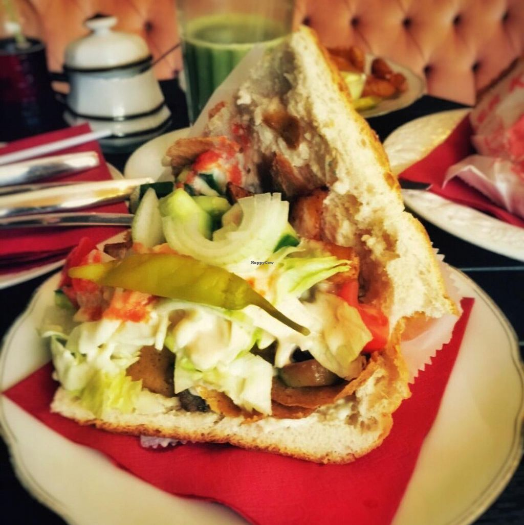 """Photo of CLOSED: Cafe Vreigeist  by <a href=""""/members/profile/TGIV"""">TGIV</a> <br/>King Vegan Döner  <br/> April 28, 2015  - <a href='/contact/abuse/image/48857/100588'>Report</a>"""