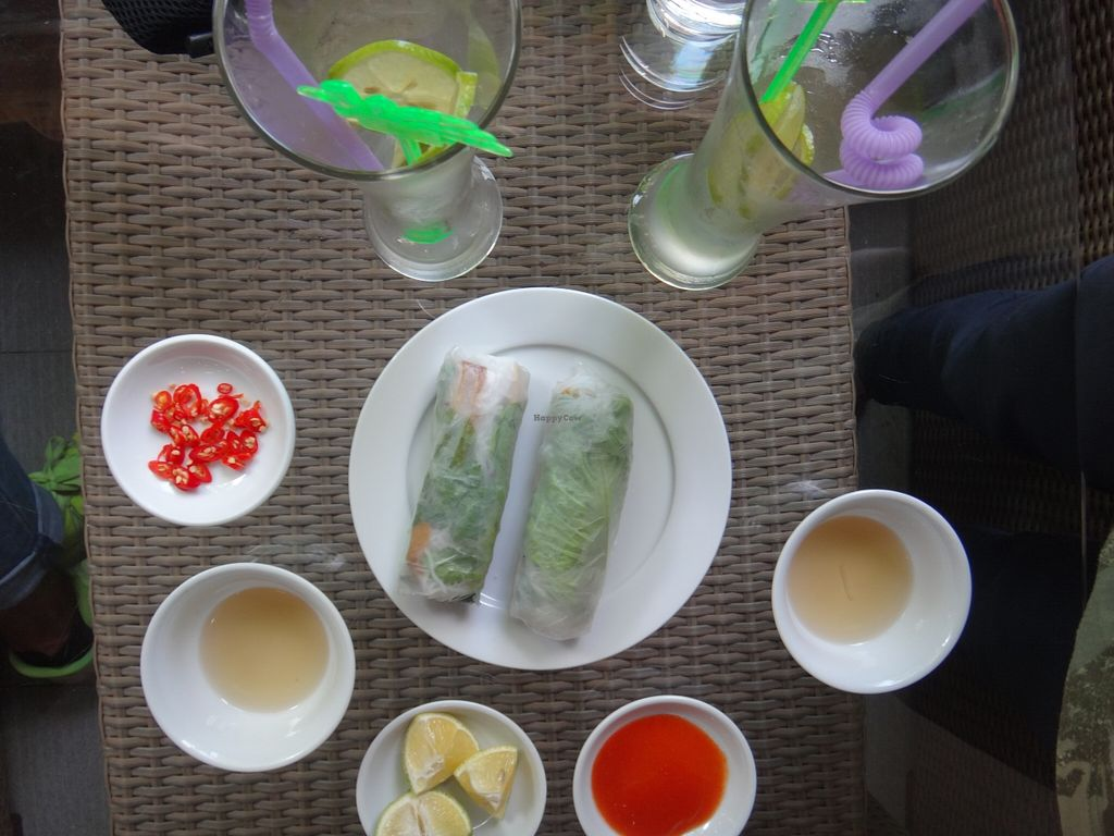"""Photo of Thien Truc  by <a href=""""/members/profile/GioiaMilan"""">GioiaMilan</a> <br/>Fresh Spring Rools and Lemon Juice! <br/> December 8, 2015  - <a href='/contact/abuse/image/48873/127579'>Report</a>"""