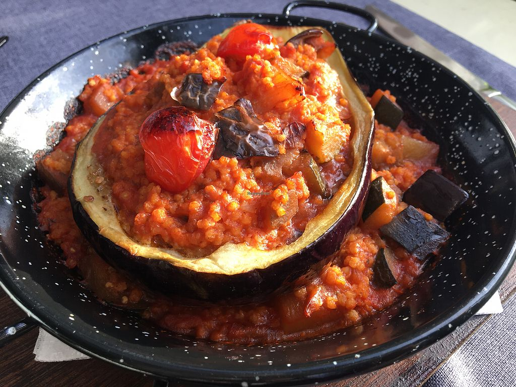 """Photo of Pasike  by <a href=""""/members/profile/JosieVAndr%C3%A9"""">JosieVAndré</a> <br/>Stuffed eggplant  <br/> September 20, 2017  - <a href='/contact/abuse/image/48880/306505'>Report</a>"""